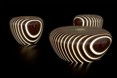 glow in the dark furniture. designed glow in the dark furniture