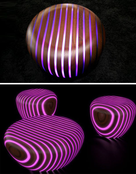 Light Wood, Literally: Glow In The Dark Outdoor Furniture