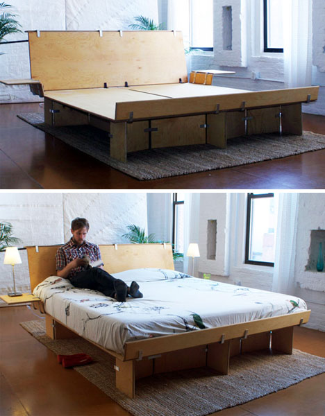 plywood bedroom furniture. The  Modular Home Furniture 7 Wood Bed Chair Desk Designs