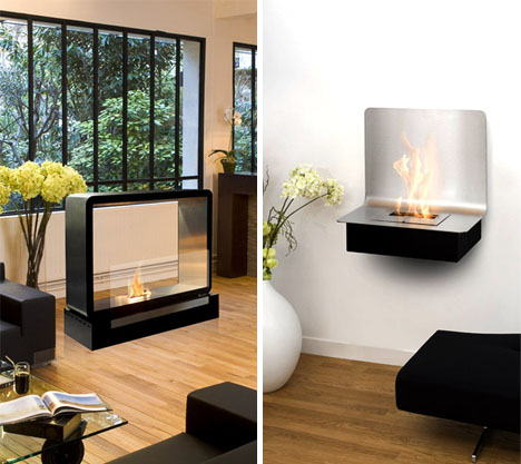 Hot Modern Design: Cool Contemporary Mobile Fireplaces