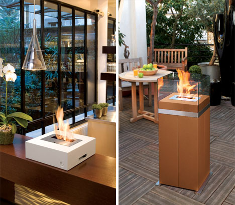 Hot Modern Design Cool Contemporary Mobile Fireplaces