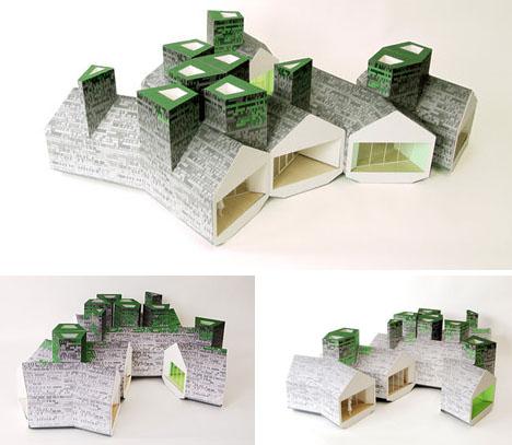 Module House grow home: diy modular green 'puzzle house' seed kits