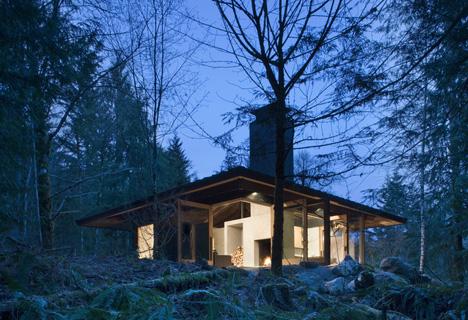 Future in Ruins Small Open Plan Concrete Wood Cabin