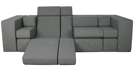 Combo Couch AllinOne Lounger Love Seat Sofa Bed - Love seat and sofa