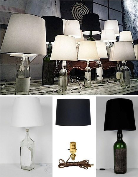 Black labels bright lights 5 diy wine bottle lamp projects lamps solutioingenieria Images