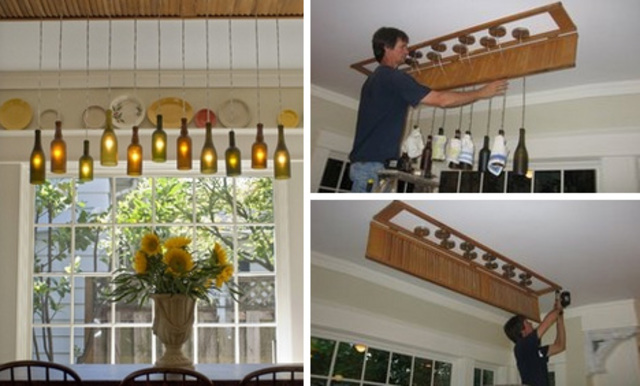5 Diy Wine Bottle Lamp Projects Designs Ideas On Dornob