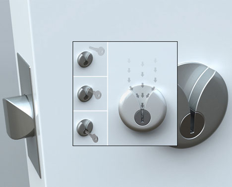 V-Shaped Door Lock: Easy Key Slot for Secure Night Entry