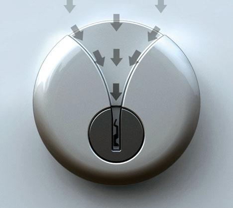 front door keyVShaped Door Lock Easy Key Slot for Secure Night Entry