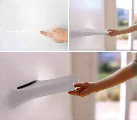 interactive kitchen design.  Living Kitchen Wall Idea Uses Multi Touch Nanotechnology