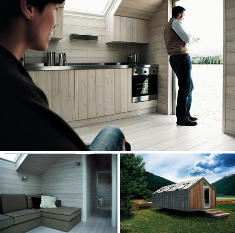Prefab Camo Cabin Modern Mobile Metal Clad Trailer Home