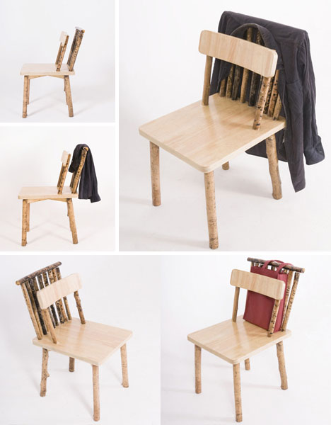 Sticks secrets unhidden wood desk chair shelf set for Function chairs