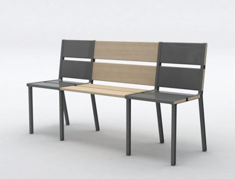 wooden and metal chairs metal share chairs transform into 3seat wooden bench
