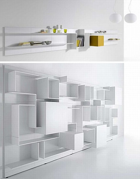 Floating Box Shelf floating white wall shelves double as abstract home decor