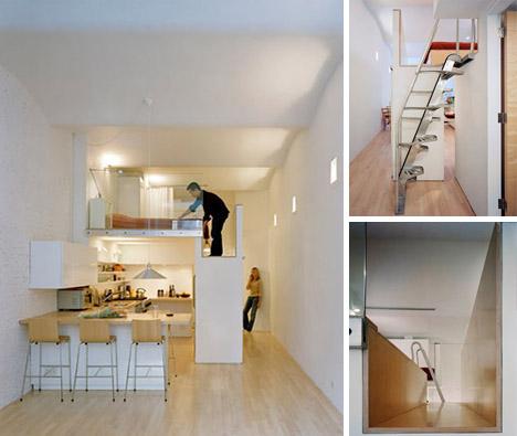 Loft Bed turns Single-Floor Studio to Two-Level Apartment ...