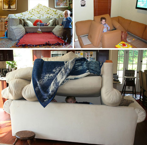 Couch Cushion Fort Ideas: Pillow Fort Architects  10 Sofa  Sheet & Cushion Structures,
