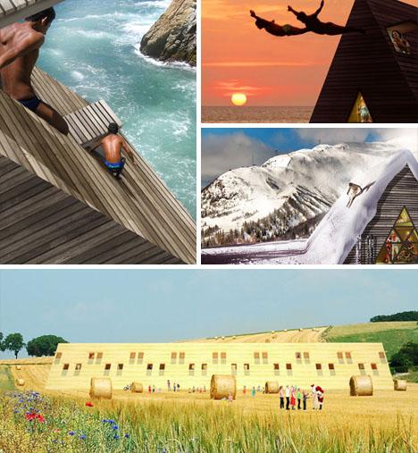 Flooring For Seasonal Homes: Climb On Home: 3-Story Prefab Has Scalable Exterior Walls