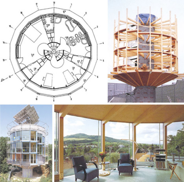 Round Homes Designs: Spinning Solar Powered Round House