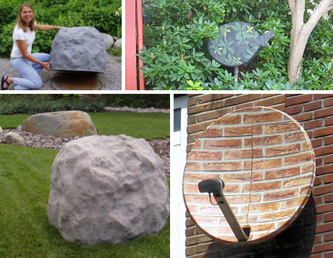 tv dish disguises 6 stealthily camouflaged satellite dishes
