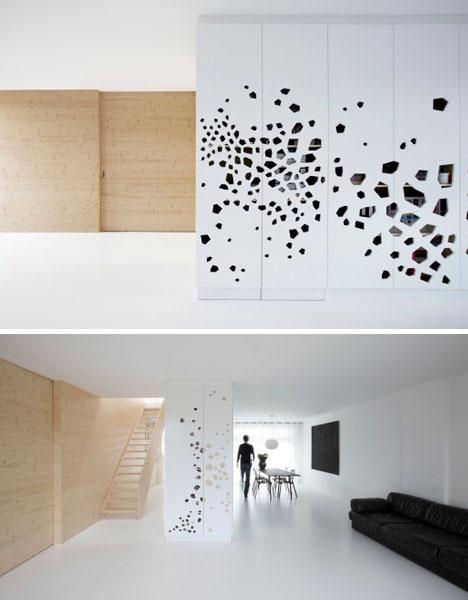 Beautiful Balance: White-Wall Interior + Pine-Wood Panels