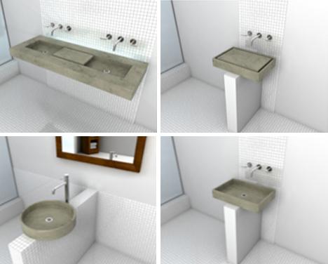 Concrete Zen Garden Sink Waters Plants While You Wash