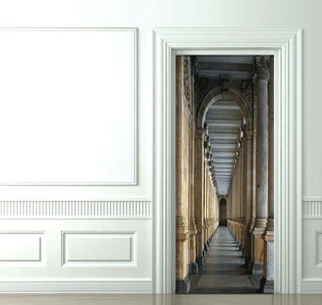Superbe 3D Door Decals: Photo Sticker Decor For Inside Room Doors