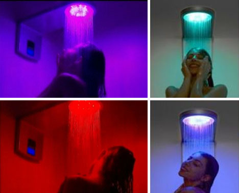 Bathe In Light: Adjustable 6 Color U0027Rain Flowu0027 Shower Head