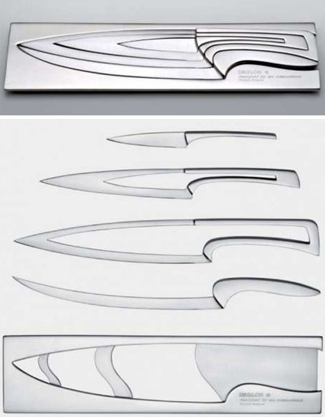 nesting kitchen knives nesting chef s knives scary but clever kitchen cutlery set designs ideas on dornob 9557