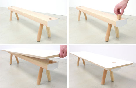Wood Furniture Diy unfinished furniture: modular system of wood legs & pegs