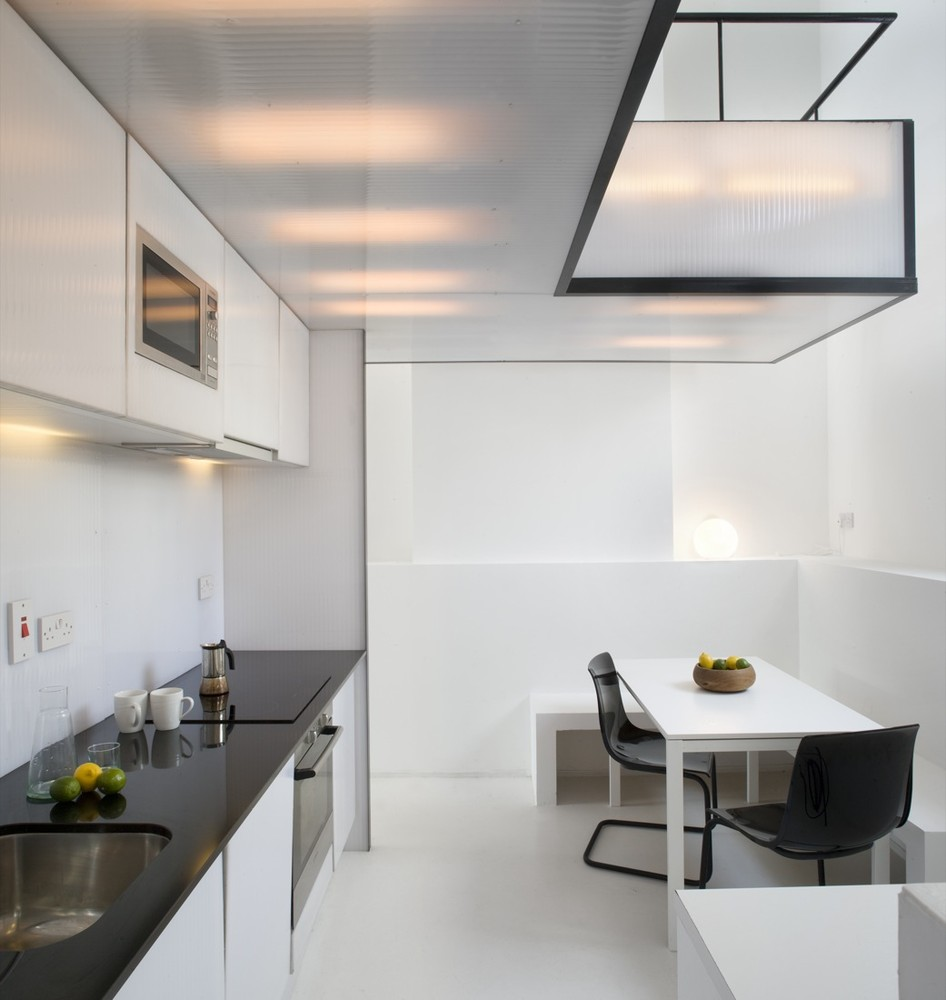 Semi Open Kitchen Designs: Plastic & Steel House Remodel