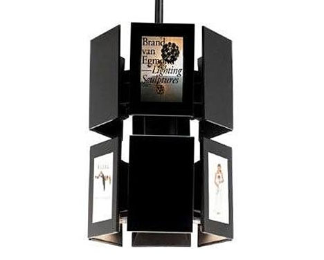 Exceptional High Tech Hybrid: Hanging Lights + Digital Photo Frames Amazing Design