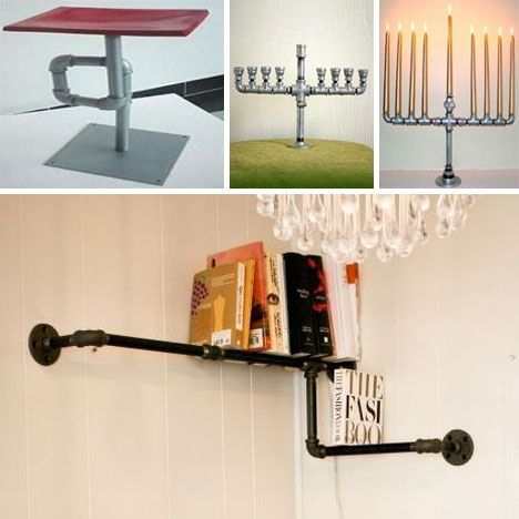Plumbing Furniture: 12 DIY Fixtures Made of Pipes & Fittings