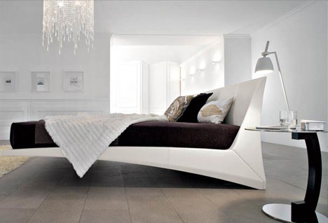 . Designer Trickery  Faux Floating Bed or Funky Fake Image
