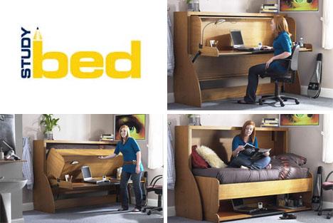 Fold Out Bed Conceals Messy Desks Designs Amp Ideas On Dornob