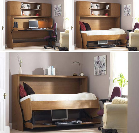 Clutter Covers Fold Out Hide A Beds Conceal Messy Desks