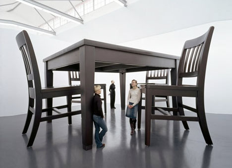 Gullivers Furniture GiantSized Tables Huge Scale Chairs