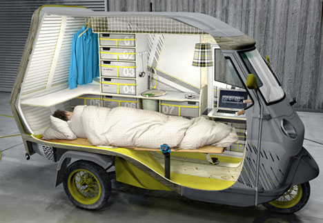 Tiny Truck + Mini Trailer U003d Super Small Mobile Camper Car!