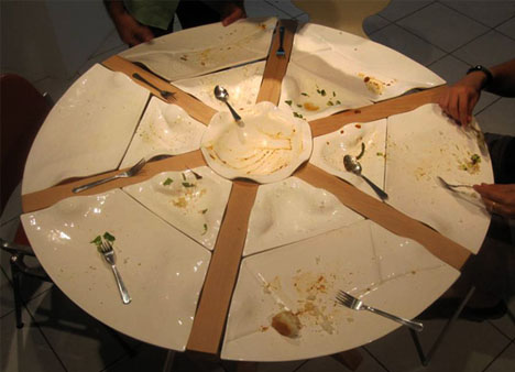 Feast in the Round: Dining Table for Food-Sharing Friends