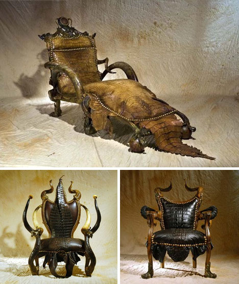 Exotic or Overkill? Series of 18 Extreme Leather Furnishings