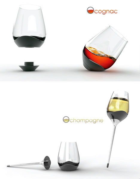 4 Glasses in 1: From Water to Wine, Champagne or Cognac