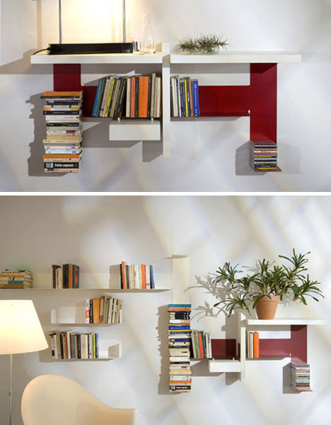 Double diy invisible shelf meets abstract modern sculpture combined solutioingenieria Choice Image