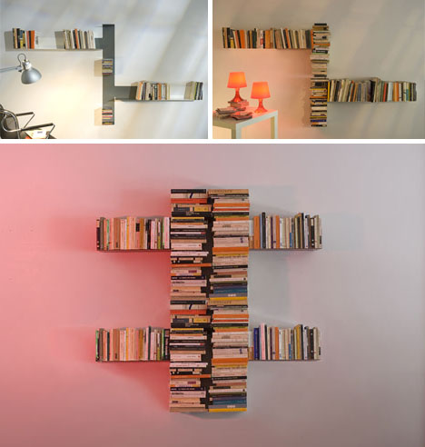 Double DIY: Invisible Shelf Meets Abstract Modern Sculpture