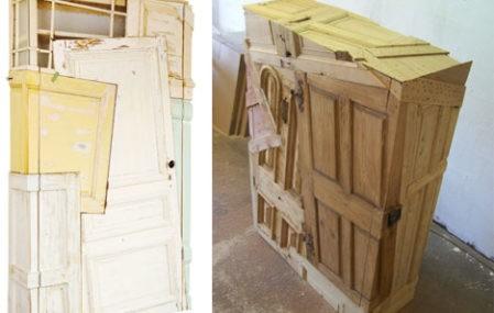 Vintage Vertigo: Wood Furniture From Scrap Doors U0026 More