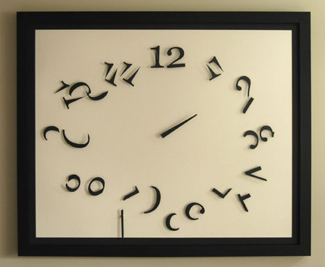 Chaos Wall Clock Tells Time in Constantly-Breaking Numbers