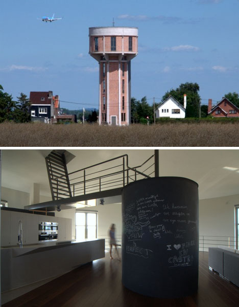 250,000-Liter Home: 7-Story Water Tower-to-House Refab