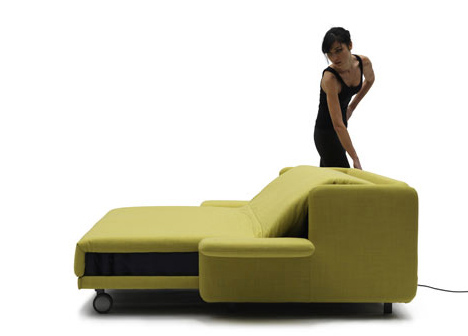 Lazy Luxury Sleeper Convertible Push Button Couch Bed