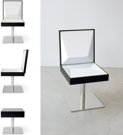 Black to White: Coffee Table Transforms to a Leather Chair