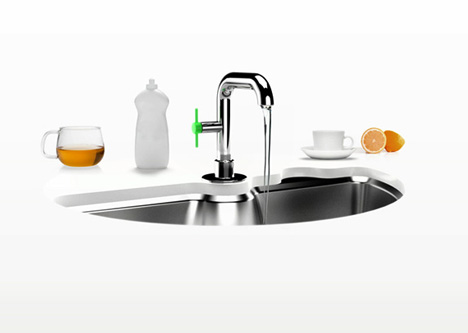 Secret Spin Cycle: Self Washing Sink + Built In Dishwasher