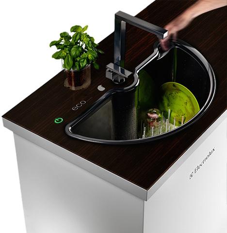 Secret Spin Cycle: Self-Washing Sink + Built-In Dishwasher