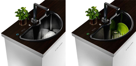 Secret Spin Cycle Self Washing Sink Built In Dishwasher