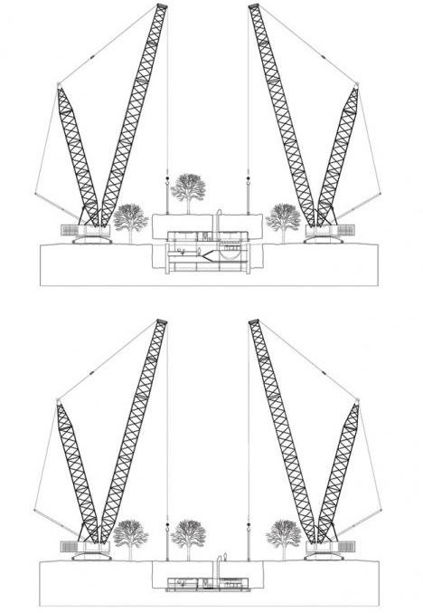 Hover House Striking Suspended Landscape Cube Design